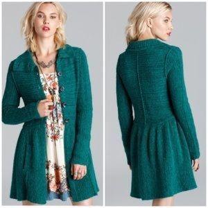 New Free People Loch Raven Sweater Jacket small